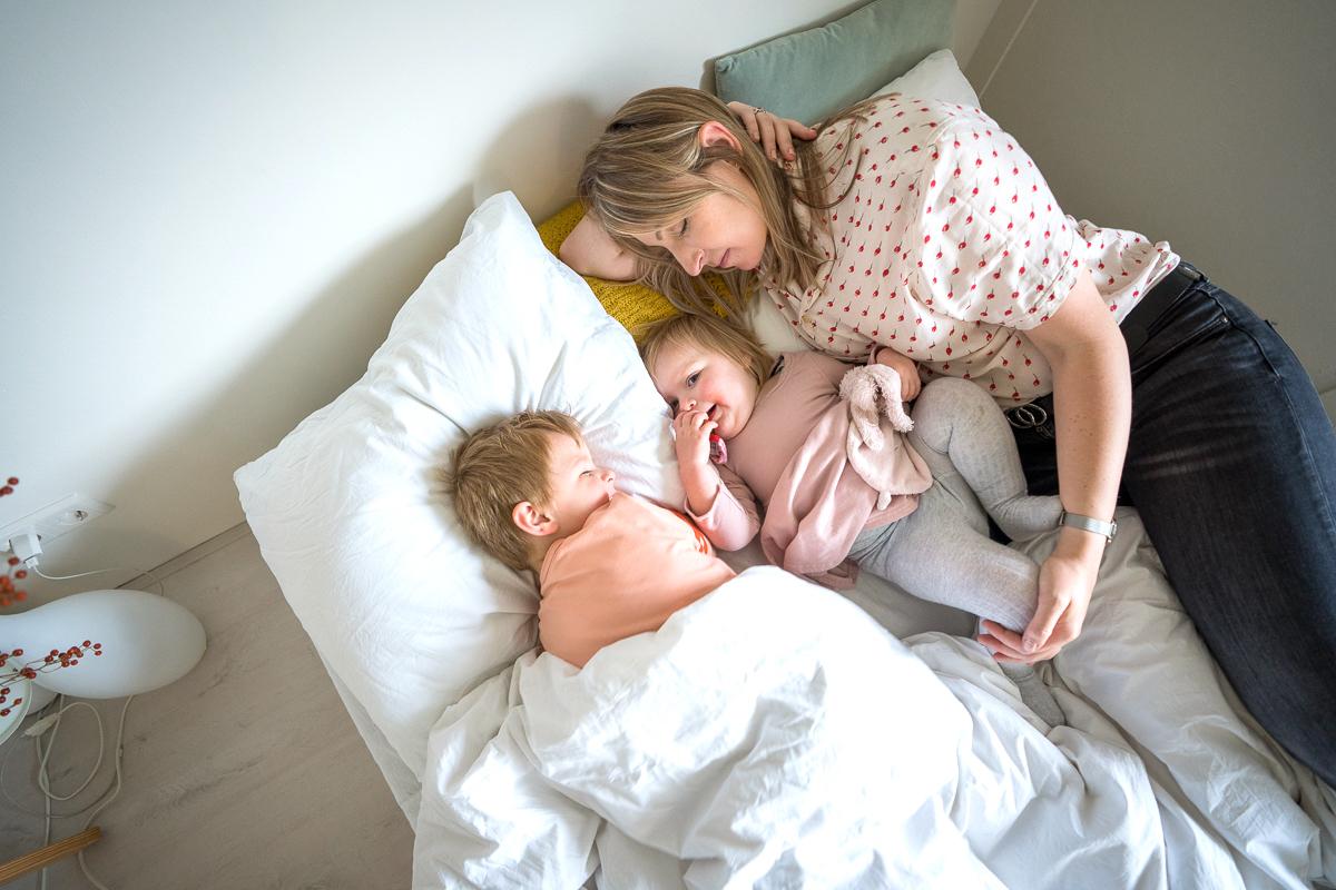 samen slapen met kind
